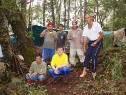 The team in lowland dipterocarp forest